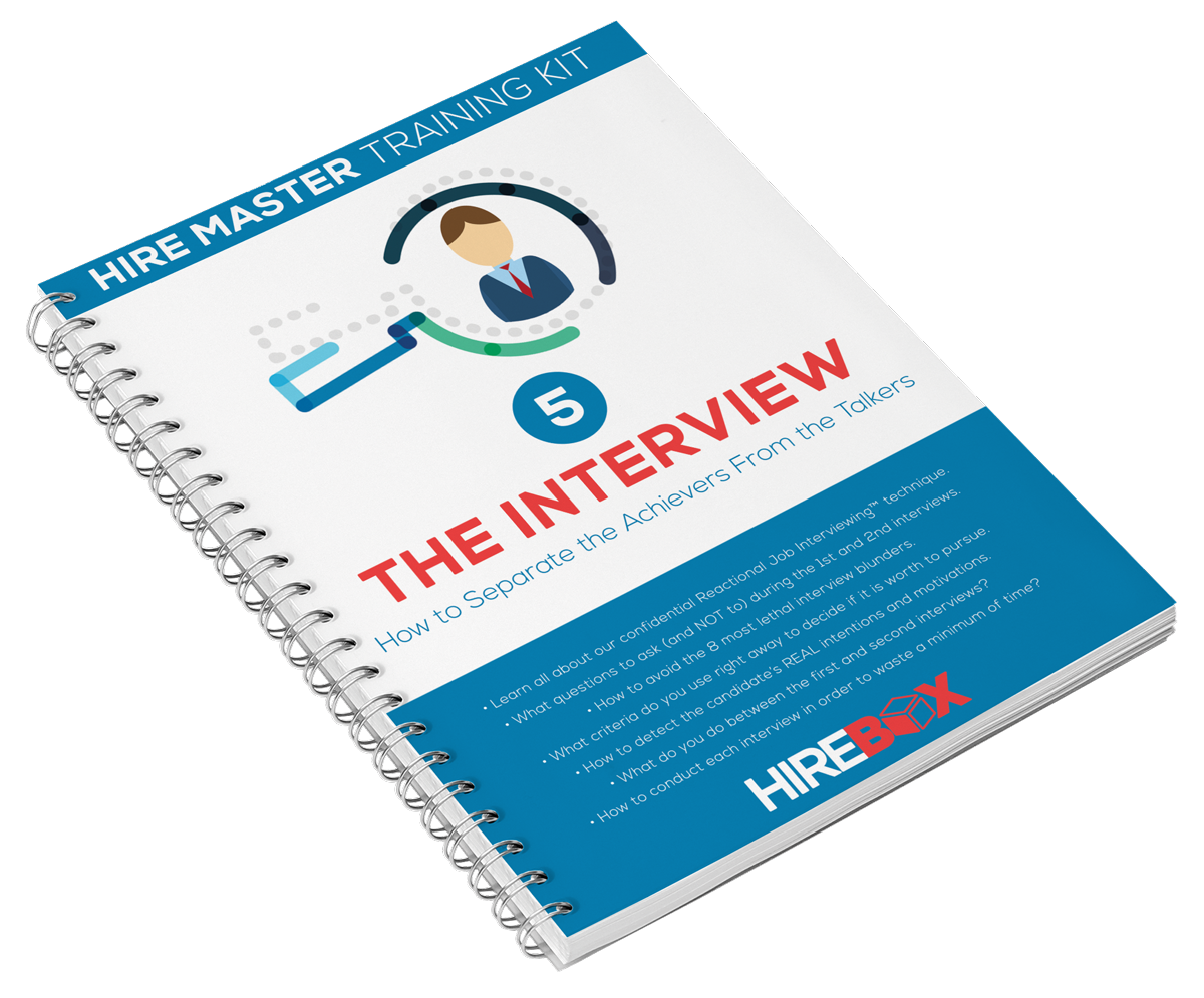 the hire master kit pre hire assessment internal 5 the interview techniques